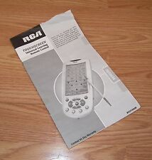 Manual / User's Guide Only For RCA RCU1000B Universal Learning Remote Control