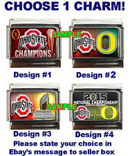 Ohio State Buckeyes National Champions Custom Italian Charm Oregon Ducks