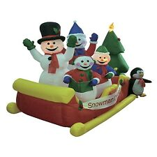 Christmas Inflatable Snowman Snowmen Sleigh Tree Outdoor Yard Decoration Balloon