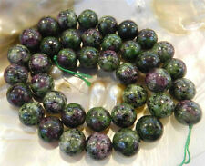 "10mm Red Green Ruby Zoisite Round Loose Beads 15"" Strand AAA+R"