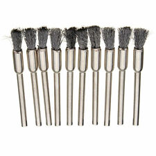 10PCS 3mm ROTARY TOOL / DREMEL STEEL WIRE NEEDLE BRUSH CUP WHEEL TYPE CLEAN RT8