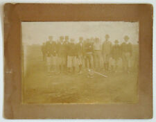 ANTIQUE Vintage 1800s BASEBALL TEAM Cabinet Card Photo BAT BALL GLOVE /NEEDS ID!