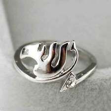 Anime Fairy tail Natsu Lucy Guild Finger Ring Silver Alloy Cosplay Necklace Gift