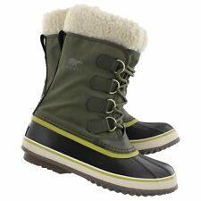 New Womens Sorel Winter Carnival Peatmoss Waterproof Leather Boot -32F Size 11