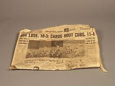 Chicago Cubs Lose, White Sox Lose - Chicago Daily Tribune July 1, 1961