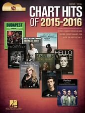 Chart Hits of 2015-2016 Sheet Music Lyrics and Guitar Chord Symbols 000156248
