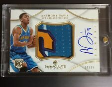 2012-13 Immaculate Anthony Davis RC 4 Clr Auto Jersey 74/75