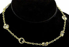 Judith Ripka 18K Yellow Gold 33g Citrine Crystal Diamond Necklace Chain $8,500