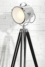 Stehlampe Stehleuchte SPOT Aluminium Edelstahl Scheinwerferleuchte Hollywood