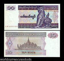 MYANMAR BURMA 10 KYAT P71 1997 BUNDLE CHINZE UNC WHOLESALE CURRENCY 1000 BILLS
