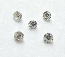 10 stones 1mm WHITE ROUND SINGLE CUT POLISHED Scrap Breakouts DIAMONDS