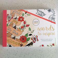 Kaisercraft Colouring Book Kaisercolour Postcards 20 designs - words to inspire