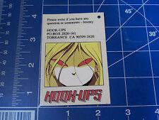 vtg 1990s Hookups skateboard sticker Red eyes original hang tag