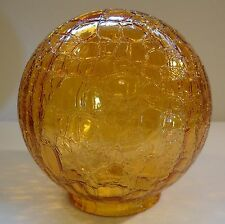 """Amber Crackle Glass Globe Lamp Shade Cover Vintage Light Chandelier Lampshade 6"""""""