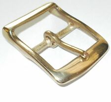 """1 1/2"""" INCH  - 38MM BRASS FULL BELT BUCKLE WITH RECESSED BAR"""