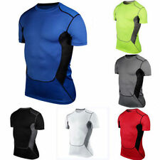Mens Base Layer Compression Body Armour Gear Under Tops Thermal Tights T-Shirts