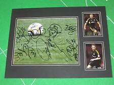 Superb Hull City FC 2012/13 Season Promotion Squad Signed Mount 11 Autographs!