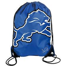 Detroit Lions Back Pack/Sack Drawstring Bag/Tote NEW Backpack BIG LOGO