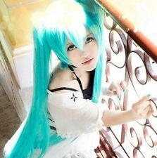 Vocaloid Hatsune Miku Cosplay WIG + 2 Ponytails light blue