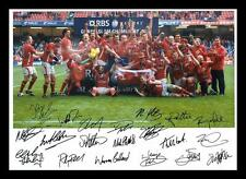 WALES RUGBY GRAND SLAM WINNERS 2012 AUTOGRAPHED SIGNED & FRAMED PP POSTER PHOTO