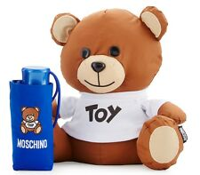 NWT Moschino Teddy Bear w/ Super Mini Umbrella Compact Plush Holder