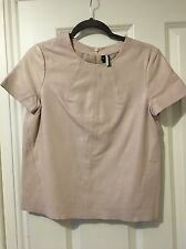 Leather Topshop Top Size 8