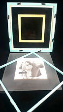 "Mint Seafoam COLLAGE PROJECT Square 4x 4"" Standing Picture MULTI Photo Frame 4x4"