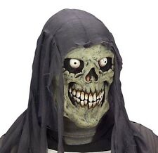 Childrens Grey Skull Mask Skeleton Zombie Halloween Fancy Dress
