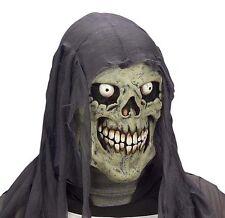Childrens Grey Skull Mask Skeleton Zombie Halloween Fancy Dress