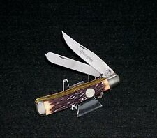 """Remington Trapper's Knife Stag Appearance 4-1/8"""" 1990's No Packaging USA Made"""