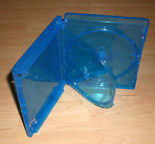 10 Blu Ray Hüllen 2fach Doppelhülle zweifach 2-fach blau 15mm Blue Ray Neu