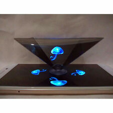 3D Holographic Display Pyramid Stand Projector Showcase for Smart Cell Phone