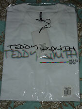 TEDDY SMITH T-Shirt TV SCREEN White M Medium 100% cotton