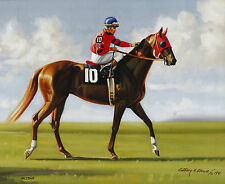 Alydar photo from oil painting  Horse Racing