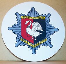 Fire and Rescue Service Buckinghamshire vinyl sticker personalised..