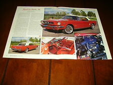 1966 FORD MUSTANG CONVERTIBLE ***ORIGINAL 1991  ARTICLE***
