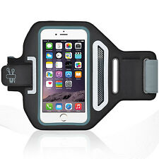"iPhone 6/6S Plus 5.5"" Black Lycra Armband Running Reflective CreditCard Holder"