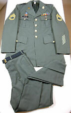 US ARMY 4TH INFANTRY SARGENT 1ST CLASS INTELLEGENCE DRESS GREEN UNIFORM 42L/33R