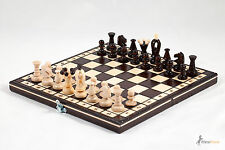 ''THE KINGDOM'' WOODEN CHESS SET!! STUNNING HAND CRAFRED 31cm!! GREAT LOOK !!