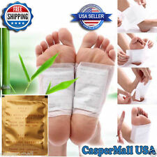 50 Detox foot pads detoxifying patches weight loss pain reduction U.S. Seller!