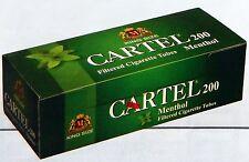 CARTEL 200  Filter Menthol Tubes