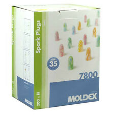 Box 200 Pairs Moldex Spark earplugs 7800 Soft foam Ear plugs SNR 35db