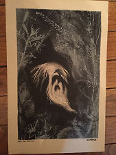"""American Folklore Lithographs by Gropper 1953 11x17"""" Rip Van Winkle RARE HTF"""