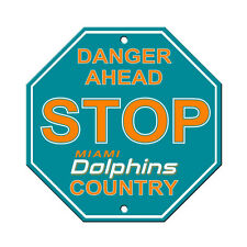 "New Miami Dolphins Country Danger Ahead STOP Sign 12"" x 12"" Octagon Made in USA"