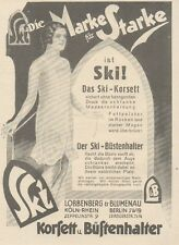 Y6247 SKI Korsett - Pubblicità d'epoca - 1925 Old advertising