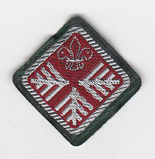 1967-71 UK / BRITISH SCOUTS - ADVANCED SCOUT STANDARD NYLON RANK AWARD BADGE