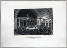 United States - Washington Capitol Congress-Halle. - Stich - Stahlstich um 1850