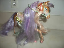 Vtg. HTF Lady Lovely Locks Silky Mane Horse Saddle Bridle 6 Pixietails Mattel