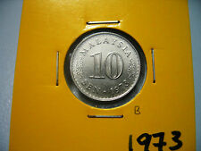 B: Malaysia 10 sen coin 1973  - UNC
