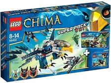 LEGO® Legends of Chima 66450 Super Pacco 3 in 1 70000 + 70001 + 70003 NUOVO